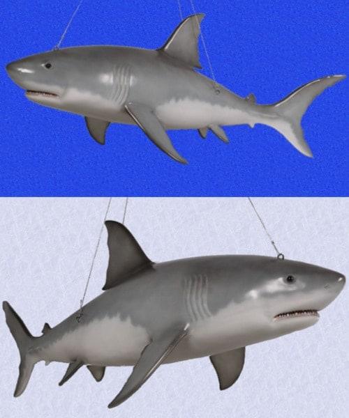 Grand Requin Blanc A Suspendre 1