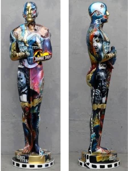 Oscar Peint St 3477 Statue 1m80 En Resine Et Fibre De Verre Theme Cinema