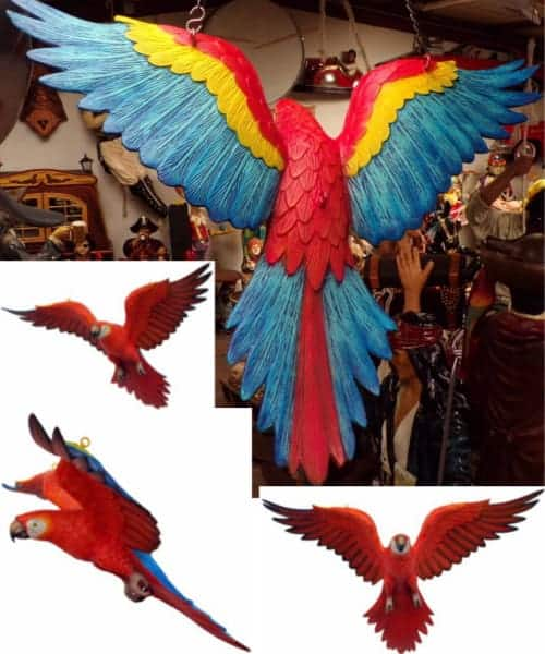 Perroquet Multicolore En Vol Animaux Taille Reele Pour Decoration Red