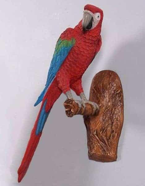 Perroquet Statue Resine