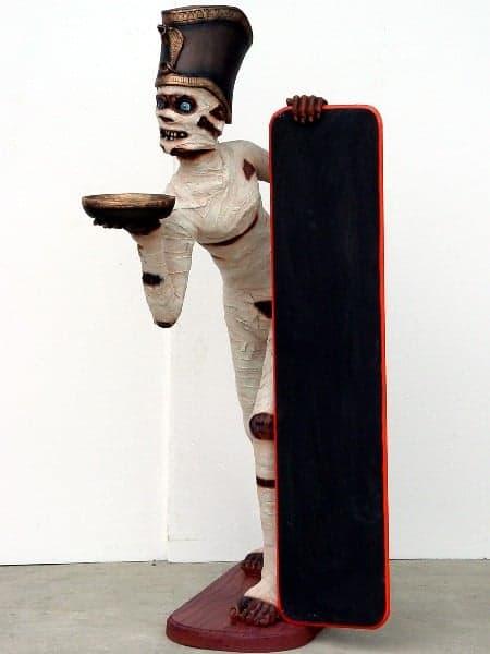Statue Momie Avec Ardoise Personnage Grandeur Nature Egypte