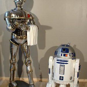 Statue Robot Grandeur Nature Style C3po Aluminium 1