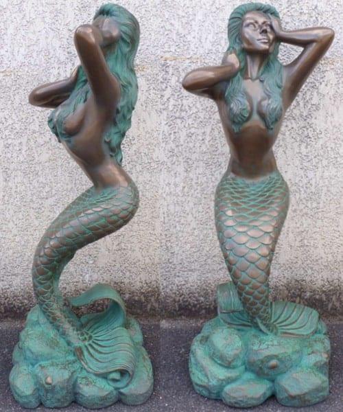 Statue Sirene Bronze