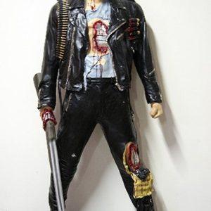 """Statue à taille réelle en résine et fibre de verre Statue de Schwarzenegger dans Terminator """"I'll be back' Hauteur 1.95m"""