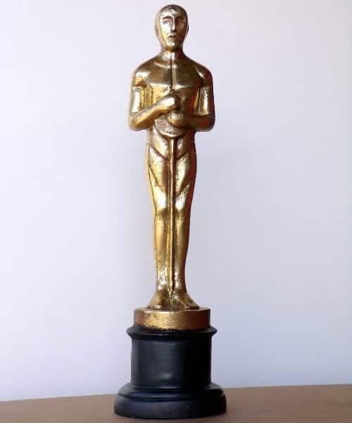 """Statue de l' """"Oscar"""" hollywoodien récompense donnée lors de la cérémonie à Los Angeles"""