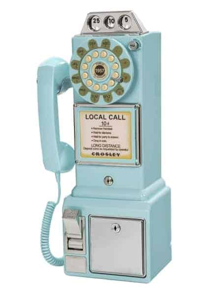 Payphone Des Rues Américaines 1950s Turquoise