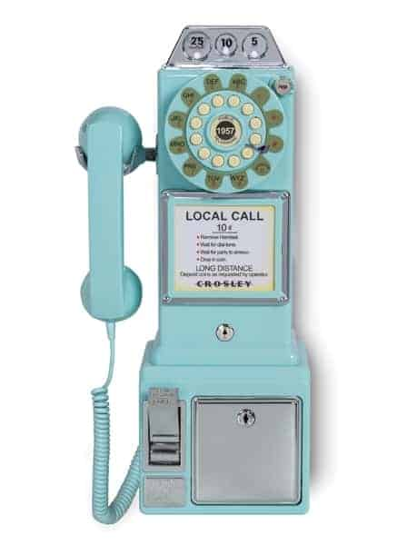 Payphone Des Rues Américaines 1950s Turquoise 1