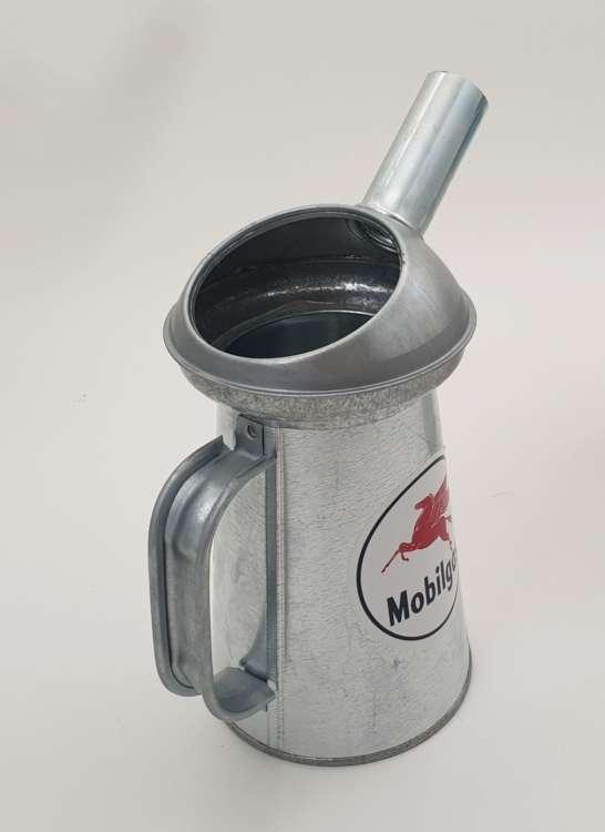 Seau De Mesure De Liquide En Acier Galvanisé Mobilgas 2