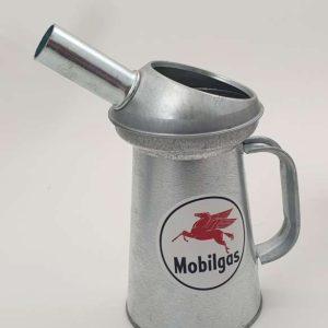Seau De Mesure De Liquide En Acier Galvanisé Mobilgas 3