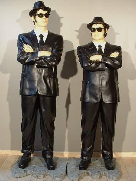Blues Brothers Debout Statue Grandeur Nature Jake 1m75 Et Elwood 1m90 Vente Et Location Evenementiel