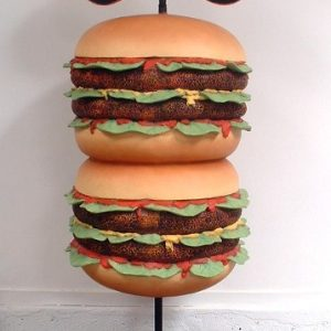 Burger Geant Taille 2m Avec Ardoise Stop Trottoir