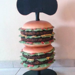 Petit Burger Comptoir Avec Ardoise Hauteur 76cm