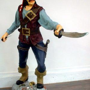 Pirate Au Sabre Su P19 Statue Grandeur Nature 1m90 En Resine Et Fibre De Verre Location Vente
