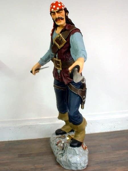 Pirate Au Sabre Su P19 Statue Grandeur Nature 1m90 En Resine Et Fibre De Verre Location Vente 1