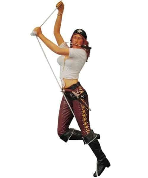 Pirate Girl Corde Su 9720 Statue Grandeur Nature En Resine Et Fibre De Verre Location Vente 1