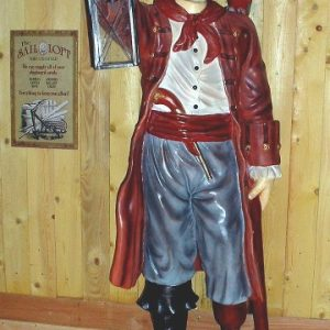 Pirate Lanterne Statue Grandeur Nature Hauteur 2m16 En Resine Et Fibre De Verre Location Vente