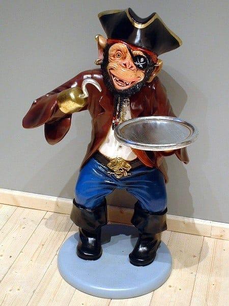 Singe Pirate Su 5110 Statue Taille 1m En Resine Et Fibre De Verre Location Vente 1