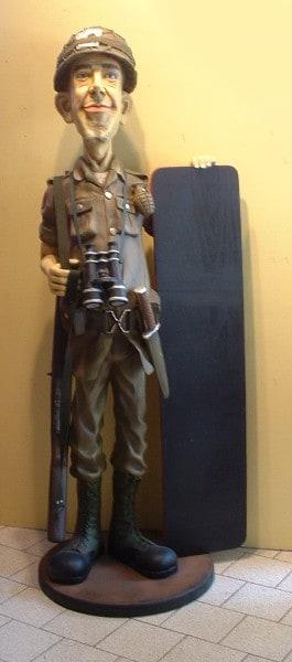 Soldat St 1885 Militaire Army Statue Grandeur Nature En Resine Et Fibre De Verre Statue Taille Reelle
