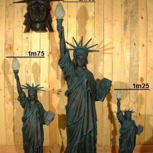 Statue De La Liberte 2m55 Statue De La Liberte 1m70 Et 1m25 En Resine Et Fibre De Verre