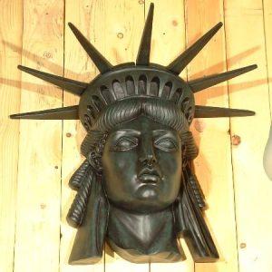 Tete De La Statue De La Liberte Applique Murale Grande Taille 90x70cm