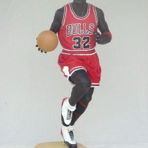 Basketteur Jordan 2m05 St 1620 Statue Grandeur Nature En Resine Et Fibre De Verre Statue Taille Reelle