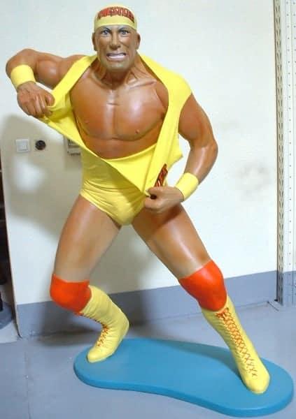 Catcheur Hulk Hogan St 1639 Statue Grandeur Nature En Resine Et Fibre De Verre Statue Taille Reelle 1m86