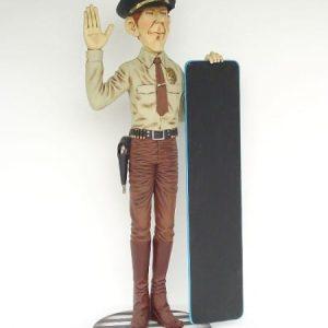 Policeman Ardoise Policier Americain St 1849 Statue Grandeur Nature En Resine Et Fibre De Verre Statue Taille Reelle