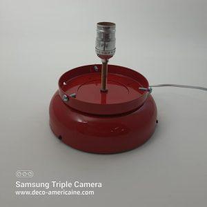 support chevet lampe pour globe de pompe a essence rouge