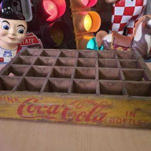 Caisse En Bois De Transport De Bouteilles De Soda Dr Pepper Coca Cola 49 9