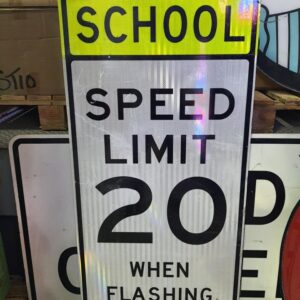 Panneau Routier Usa Shool Zone Speed Limit