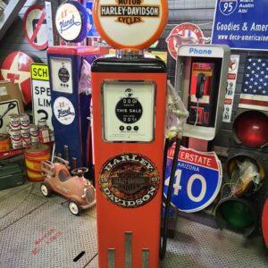 Pompe A Essence Americaine Deco Americaine Harley Davidson Orange