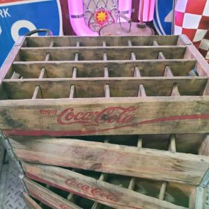 Caisse En Bois De Transport De Bouteilles De Soda Coca Cola Brut
