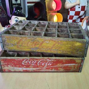 Lot De 2 Caisses De Transport Vintage En Bois Coca Cola 32