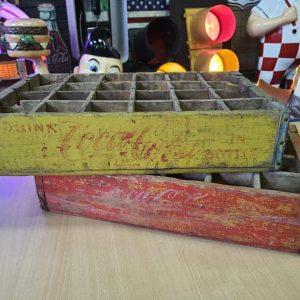 Lot De 2 Caisses De Transport Vintage En Bois Coca Cola 39