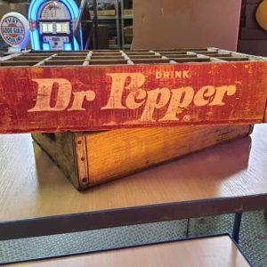Lot De 2 Caisses De Transport Vintage En Bois Dr Pepper 35