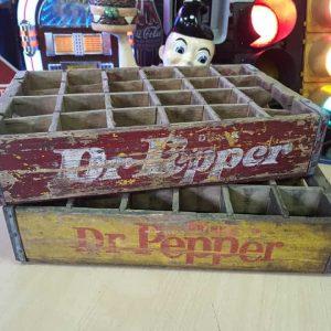 Lot De 2 Caisses De Transport Vintage En Bois Dr Pepper 39