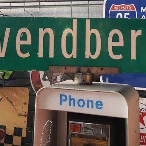 Panneau De Collection Vintage De Rue Americaine Ervendberg Ave 1200 120x23