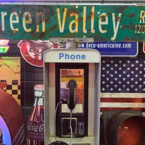 Panneau De Collection Vintage De Rue Americaine Green Valley Rd 12000 120x23
