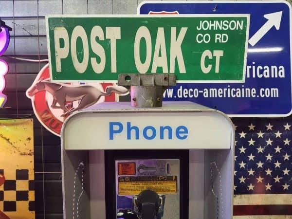 Panneau De Collection Vintage De Rue Americaine Post Oak Ct Johnson Co Rd 46x15.5 1