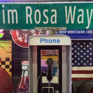 Panneau De Collection Vintage De Rue Americaine Prim Rosa Way 300 120x23 1