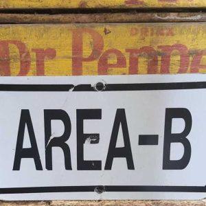 Panneau De Rue Et Parc De Ville Americaine Area B 30.5x15.5cm
