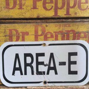 Panneau De Rue Et Parc De Ville Americaine Area E 30.5x15.5cm
