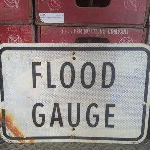 Panneau De Rue Et Parc De Ville Americaine Flood Gauge 46x31cm