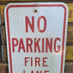 Panneau De Rue Et Parc De Ville Americaine No Parking Fire Lane 46x31cm
