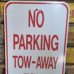Panneau De Rue Et Parc De Ville Americaine No Parking Tow Away Zone 46x31cm