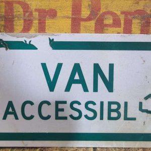 Panneau De Rue Et Parc De Ville Americaine Van Accessible 30.5x15.5cm