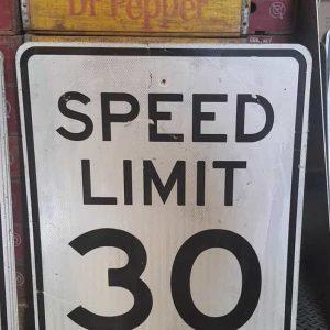 Panneau Routier Americain Speed Limit 30 Mph 76x61cm 2