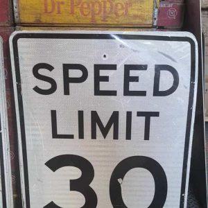 Panneau Routier Americain Speed Limit 30 Mph 76x61cm 3