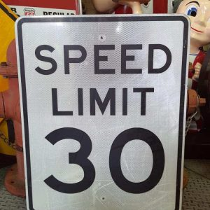 panneau routier americain de limitation de vitesse speed limit 30 76x61cm