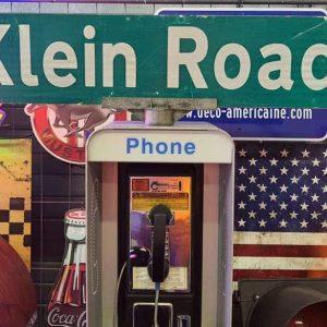 Panneaux Verts Des Rues Américaines 106.5x23cm Klein Road